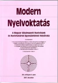 Szépe György: Modern Nyelvoktatás 2007. 4. szám