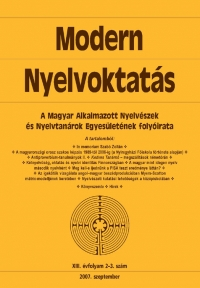 Szépe György: Modern Nyelvoktatás 2007. 2-3. szám