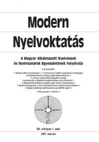 Szépe György: Modern Nyelvoktatás 2007. 1. szám