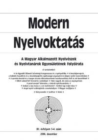 Szépe György: Modern Nyelvoktatás 2006. 3-4. szám
