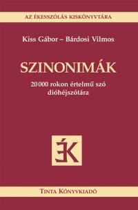 Kiss Gábor, Bárdosi Vilmos: Szinonimák