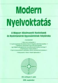 Szépe György: Modern Nyelvoktatás 2008. 3. szám
