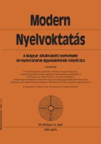 Szépe György: Modern Nyelvoktatás 2009. 1-2. szám