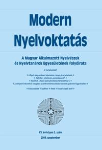 Szépe György: Modern Nyelvoktatás 2009. 3. szám