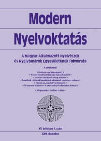 Szépe György: Modern Nyelvoktatás 2009. 4. szám