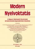 Tinta Knyvkiad: Modern Nyelvoktatás 2010. 1. szám