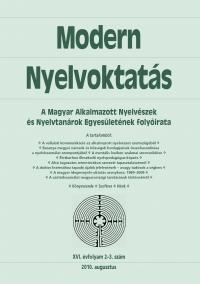 Szépe György: Modern Nyelvoktatás 2010. 2-3. szám
