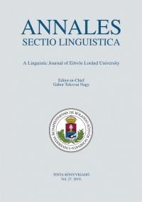 Tolcsvai Nagy Gábor: Annales Sectio Linguistica