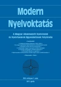 Szépe György: Modern Nyelvoktatás 2011. 1. szám