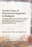 Tinta Knyvkiad: Twenty Years of Theoretical Linguistics in Budapest