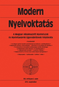 Medgyes Péter: Modern Nyelvoktatás 2013. 3. szám