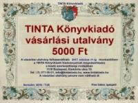TINTA Könyvkiadó: TINTA Könyvkiadó vásárlási utalvány