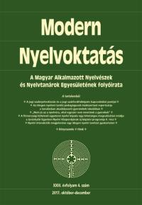 Dróth Júlia: Modern Nyelvoktatás 2017. 4. szám