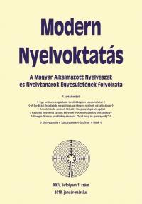 Nádor Orsolya: Modern Nyelvoktatás 2018. 1. szám