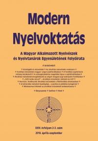 Nádor Orsolya: Modern Nyelvoktatás 2018. 2-3. szám